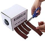 Paquete de rollos abrasivos múltiples, papel abrasivo 150, 240, 320, papel de lija de grano 400 con dispensador, rollo de tela de esmeril extraíble, cinta de lijado de carpintería de vidrio de metal (