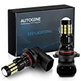 AUTOGINE 2800 Lumens Extremely Bright H10 9145 9140 9045 9155 LED Fog Light Bulbs for DRL or Fog Lights, DOT Approved, 6000K Xenon White (Pack of 2)