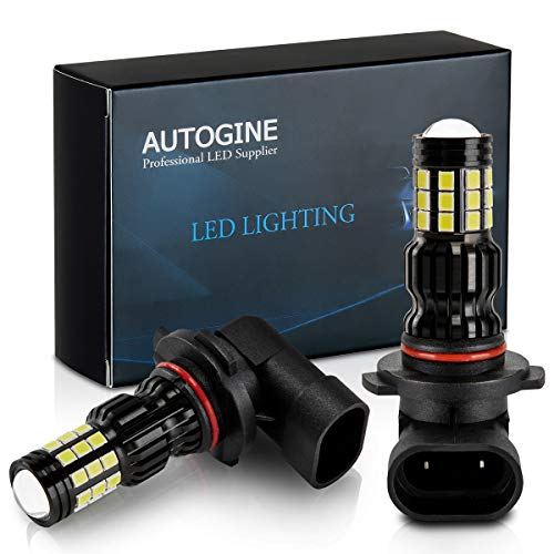 AUTOGINE 2800 Lumens Extremely Bright 9006 HB4 9006XS 9006LL LED Fog Light Bulbs for DRL or Fog Lights, DOT Approved, 6000K Xenon White (Pack of 2)