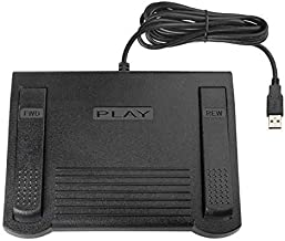 Transcription Foot Pedal for use with Express Scribe for Windows or Mac Transcription Software (Renewed)
