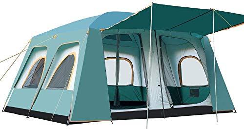 LKOER Tienda, 8-12 Personas Cuadradas Top Camping Tienda - Refugio al Aire Libre Cabaña Instantáneo Portátil Portátil Portátil Toldos de Sombra para Vacaciones en Familia Camping, jinyang