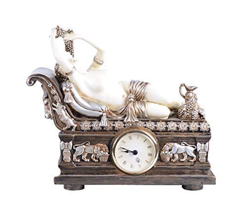 Unbekannt Figürliche Kaminuhr Bacchantin auf Recamiere im Empire Stil IS064 Palazzo Exklusiv