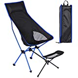 beyonday Folding Camping Chair, with Footstool Ultralight, Portable Heavy Duty...