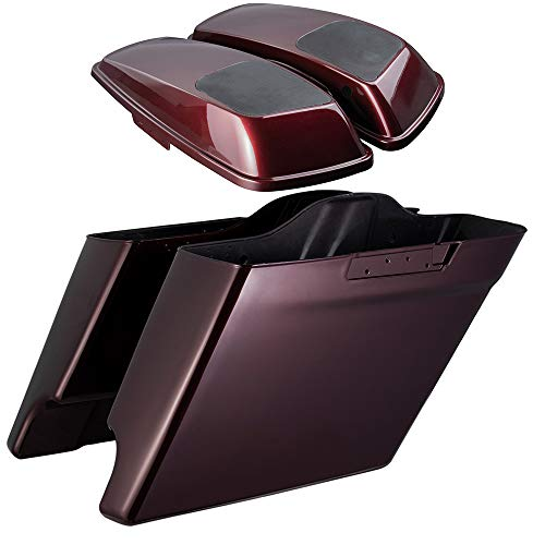 Review Of Advanblack Twisted Cherry 4 1/2 inch Extended Bags 6x9 Saddlebag Speaker Lids Fit for Harl...