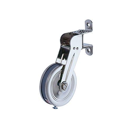 JAROLIFT Aufschraub Gurtwickler schwenkbar mit 5,3m Gurtaufnahme, hochglanz-vernickelt (120200)