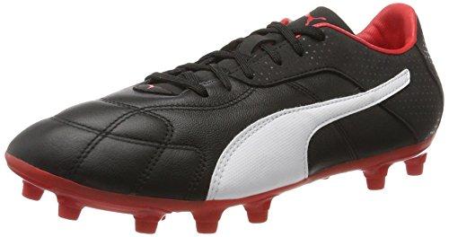 Puma Esito C FG, Herren American Football Schuhe, Schwarz (PUMA Black-PUMA White-PUMA RED), 42.5 EU (8.5 UK)