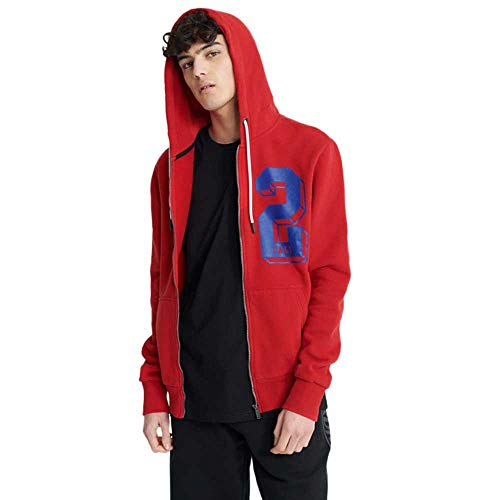 Superdry College Classic Zip Hoodie Rouge Red