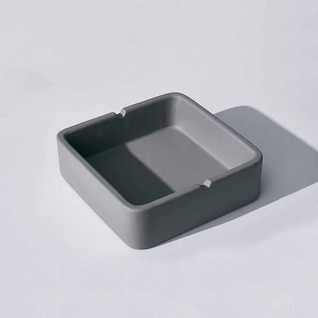 看板決定的ビリーヤギ正方形の灰皿、繊細なコンクリートの質感の灰皿、多人数使用シーンに適したパーソナライズされた屋外の灰皿の装飾 (Size : S)