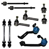 Detroit Axle Replacement for Ford Explorer Ranger - Torsion Bar Suspension Only - 2- Piece Upper Control Arm, Lower Ball Joints, Front Sway Bars, Tierods - 10pc Set