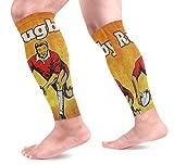 Ezioly Chaussettes de compression pour joueur de rugby Passant le ballon de sport Chaussettes de compression pour la course à pied, le cyclisme, la maternité, les voyages, les infirmières