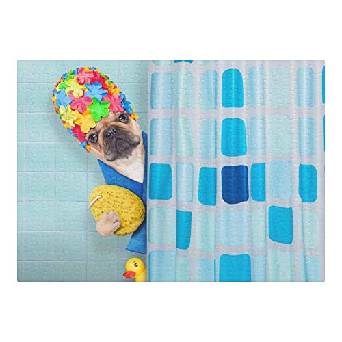 Custom Puzzles Bathing French Bulldog 500 Pieces Jigsaw Puzzle Funny Novelty DIY Toys for Adult Children Gift Home Decoration