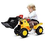 GOPLUS Bulldozer Kinderfahrzeug, Kinderauto Kinder mit Stauraum, Radlader Kinderauto mit Hupfunktion, mit Umkippen-Schutz, Spaß beim Zusammenbauen und...