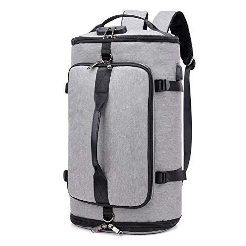 Saniferスポーツバッグ 大容量 ボストンバック 4way ジムバック シューズ収納 旅行バッグ 盗難防止 軽量 防水