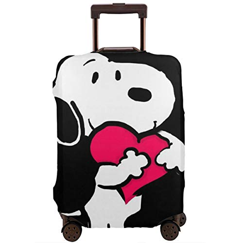 Travel Luggage Cover Snoopy Love Suitcase Protector Washable Baggage Covers 18-32 Inch