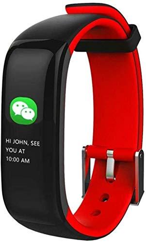 Monitor de actividad con monitor de ritmo cardíaco, monitor de sueño, con actividad y paso de salud, contador de calorías, pulsera deportiva inteligente (color: naranja) - rojo