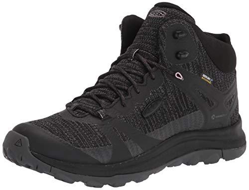 KEEN Women's Terradora 2 Waterproof Mid Height Hiking Boot, Black/Magnet, 8