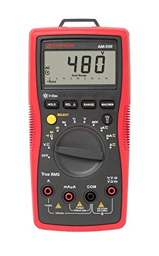 Amprobe am-530 true-rms electrical contractor multimeter with non-contact voltage detector and temperature