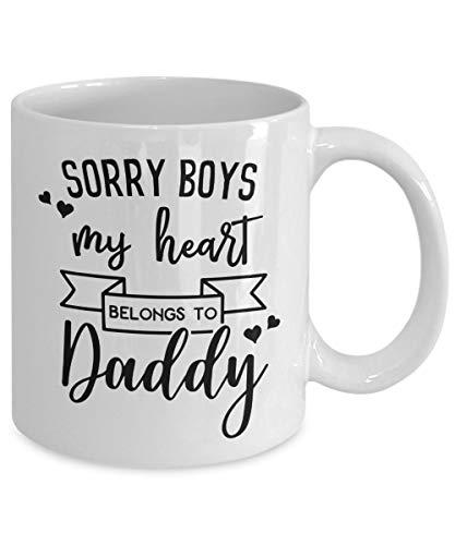 Sorry Boys My Heart Belongs To Daddy Mug | First Valentines Day | Daddy Valentine | I Love You Daddy | Heart Breaker | Daughter Valentine (Sorry Boys My Heart Belongs To Daddy)