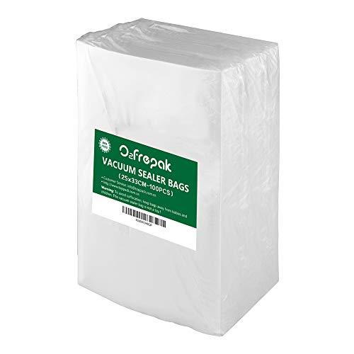 100 Beutel 25X33cm Professional Premium Qualität Vakuumier Beutel Vakuumbeutel für Lebensmittel,BPA-Frei and FDA zugelassen Folie für Vakuumierer.