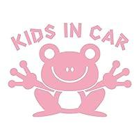 imoninn KIDS in car ステッカー 【シンプル版】 No.22 カエルさん (ピンク色)