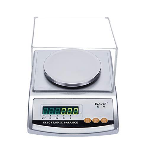 YZSHOUSE Oksmsa Balanza Electrónica Preciso 0.01g Textil Laboratorio Balanza 0.001g Joyería Peso con Dechado Y Almohadilla De Cuero (Size : 1000x0.01g)