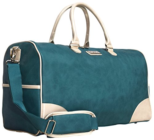 Nicole Miller New York Designer Duffel Bag Collection - Lightweight 21 Inch Travel Tote for Men & Women - Weekender Overnight Gym Carry On Suitcase (Sharon City Teal)