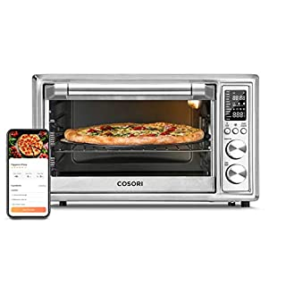 COSORI Smart 12-in-1 Air Fryer Toaster Oven Combo, Countertop Dehydrator for Chicken, Pizza and Cookies, Recipes & Accessories Included, Work with Alexa, 30L, Silver (B0895G46CG) | Amazon price tracker / tracking, Amazon price history charts, Amazon price watches, Amazon price drop alerts