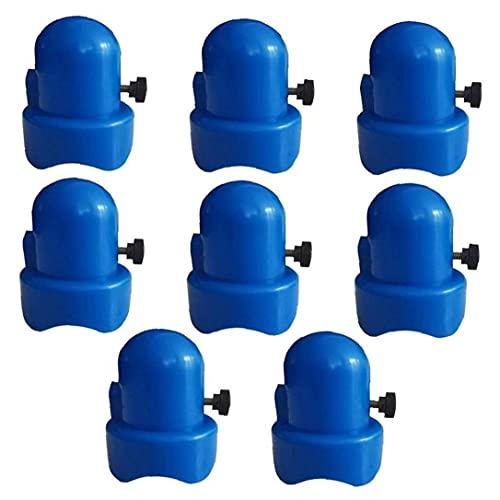 Trampolín Tapa de Recubrimiento, Caps 8PCS Cama elástica de plástico Fin de 1,5 Pulgadas de diámetro Blue Poles