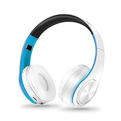 Best Headphones Bluetooth Earphone Wireless Earbuds with Charging Box Sports Headset for iPhone X Samsung S9 Plus Xiaomi Huawei whiteblue