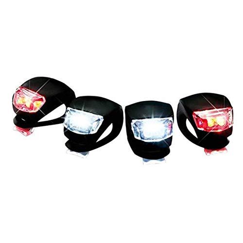 Garciadia Fahrrad-Rückleuchten Frosch Lampe Silikon-LED-Kopf vorne Hinterrad Fahrrad-Licht-wasserdichte Fahrrad-Zubehör Fahrradlampe (Farbe: schwarz)