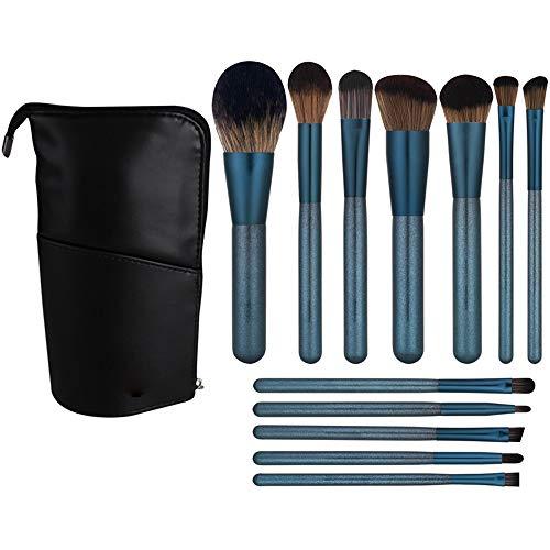 Maquillage Pinceaux Poudre Fond de Teint Ombre à Paupières Eyeliner Contour Des Lèvres Correcteur Smudge Pinceau Bleu Brosse à maquillage XXYHYQ