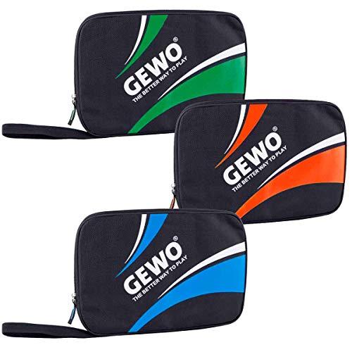 GEWO Unisex– Erwachsene Master Tischtennis Doppelhülle, schwarz/grün, 32x23x3cm