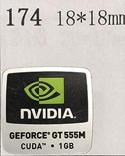 【NVIDIA GEFORCE GT 555M CUDA 1GB】エンブレムシール 18*18mm