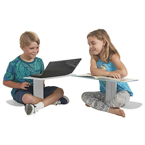 ECR4Kids The Surf Portable Lap Desk, Flexible Seating for Homeschool and Classrooms, One-Piece Writing Table for Kids, Teens and Adults, GREENGUARD [GOLD] Certified, Light Grey (10-Pack) (ELR-15810-LG