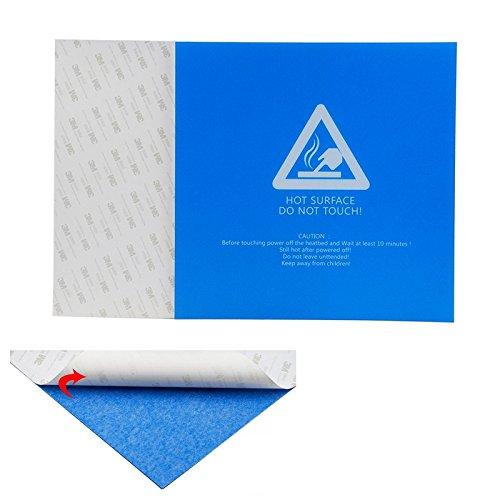 ILS - 220 * 220 * 0,5 mm blauw frosted verwarmde bed sticker Bouwen Plaat Band met 3M ondersteuning voor 3D-printer
