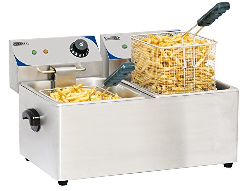 Casselin Cfe42 elektrische friteuse 2 x 4 liter