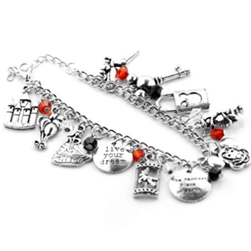 Blingsoul Mickey Charm Bracelet - Mouse Jewelry Merchandise for Women