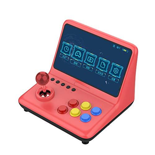 GoolRC Consola de videojuegos Reproductor de Juegos portátil Arcade Joystick Juegos 2400 incorporados Pantalla de 9.0 pulgadas Reproductor video musical Soporte de salida HD Conexión gamepad con cable
