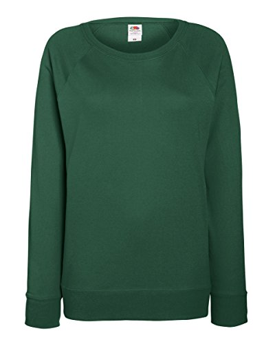 Fruit of the Loom Damen Raglan Sweatshirt (Small) (Flaschengrün)