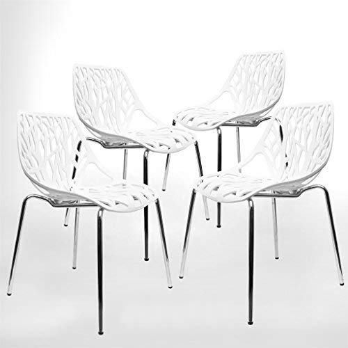 Modern Dining Chairs (Set of 4) by UrbanMod, White Chairs,...