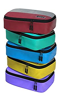 Small Travel Packing Cubes - 5 Piece Set Compression Packaging Cube Suitcase Organizer