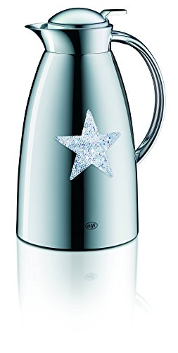 Alfi Gusto Metall 3522901100 Isolierkanne 1 Stück (1 Liter, 14 x 15 x 26 cm) star silver