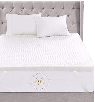 Home Sweet Home 3 Inch Memory Foam Mattress Topper Pressure Relieving Bed Topper with Hypoallergenic product image