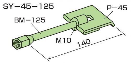 ゼン技研 先付け施工タイププレートアンカー SY-45 50組入 成型板用