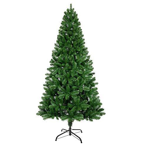 ANSIO Árbol De Navidad 6 Pies / 1.8 M Árboles De Navidad Artificiales Soporte De Metal 100% Incombustibles Picos De PVC