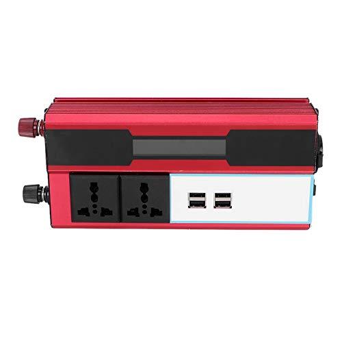 Qii Lu Inverter, Car 5000W Inversor De Energía Solar Pantalla Digital Teléfono 4 Cargador USB