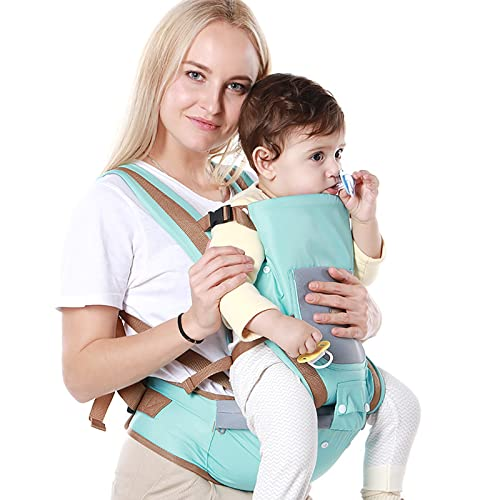 WHSPORT Carrier Mochila Portabebés Ergonómica para Moverse Fácilmente,Mochila para Niños y Recién Nacidos con Asiento Infantil M-Seat (Color : Blue)