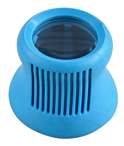 """HOME-X Small Bottle Opener with Magnifier, Ergonomic Cap Opener,Tool for Seniors and Arthritis Sufferers- Blue- 2"""" L x 2 ½ """" W x 2 ½ """" H"""
