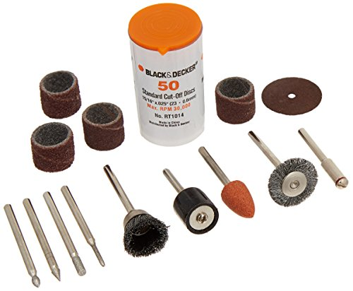 BLACK+DECKER RT1022 Rotary Tool Accessory Kit, 63-Piece