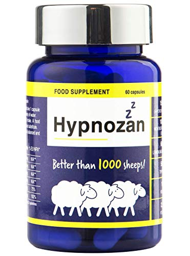 Hypnozan – Sleep. for 60 Days. High dose Capsules, not Sleeping Tablets, only for Adults